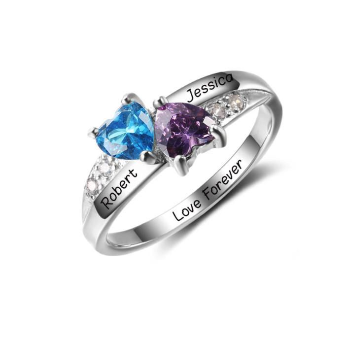Discount Voucher Special!! >>> ENTER CODE: SUMMER AT CHECKOUT & SAVE FOR EACH AND EVERY ITEM IN OUR SPECIALS CATALOGUE! .... Specials items may be time limited so get yours quick! ....  2 Hearts Forever - 925 Sterling Silver Ring