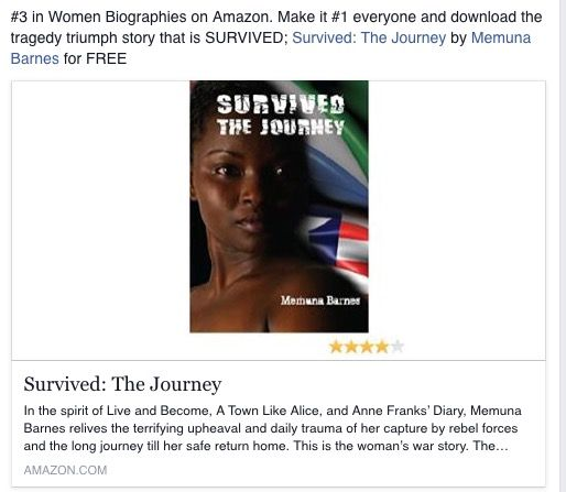 SURVIVED: The Journey for a limited time. Get in there and download your FREE ebook here @ Amazon.com ?http://tinyurl.com/nzco3dc