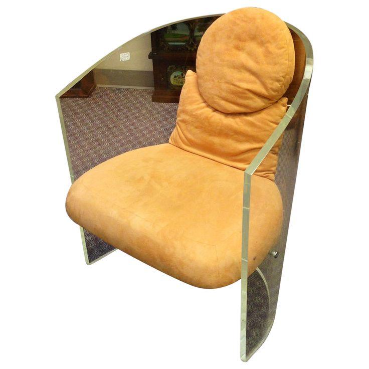 Mid Century Lucite Barrel Chair - Harmony