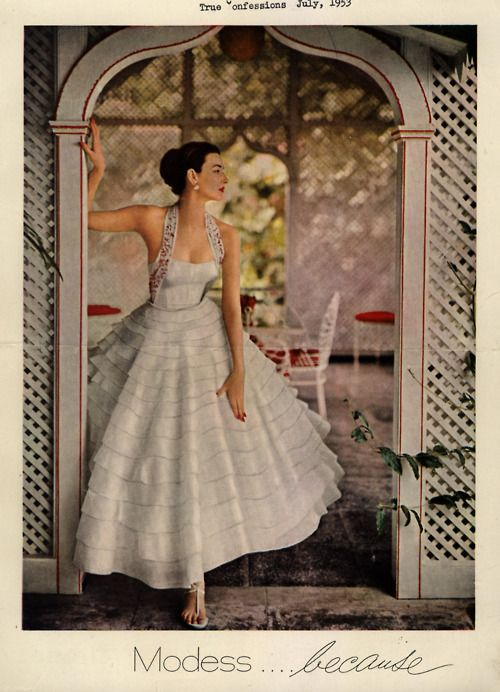 1953 wedding dress