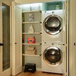 seattle stackable washer dryer with transitional washcloths laundry room contemporary and wall shelves closet