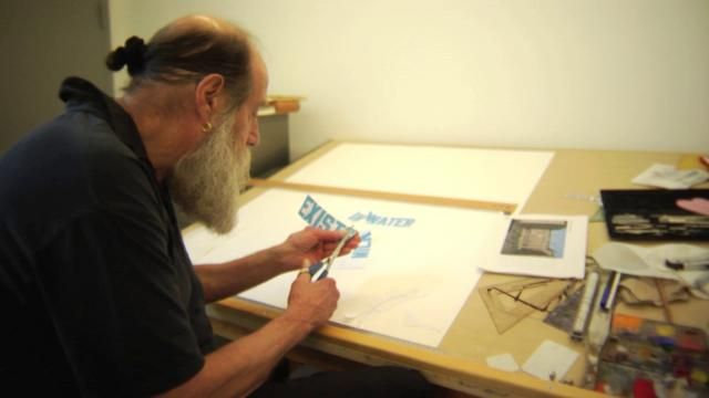 ARTIST SERIES/DESIGN MATTERS: Lawrence Weiner by Hillman Curtis. 2008. This artist series profile was made with Debbie Millman from Design Matter. Debbie conducts the great interview with her hero Mr. Weiner.