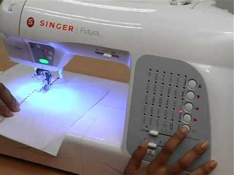 Singer Futura XL400 Sewing & Embroidery Machine Training - Part-01/02