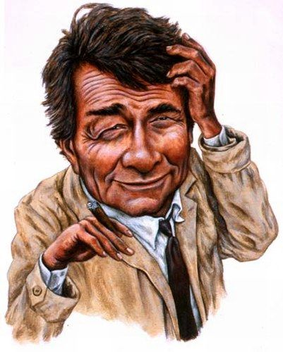 "Peter Falk as dectective ""Colombo"", a Los Angeles police officer."