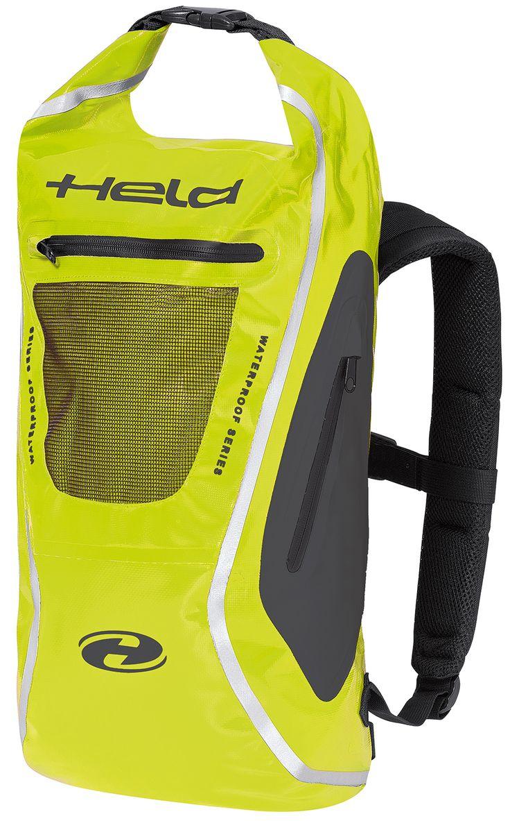 Held Zaino Waterproof Motorcycle Rucksack Yellow - http://playwellbikers.co.uk/luggage/held-zaino-waterproof-motorcycle-rucksack-hi-viz/