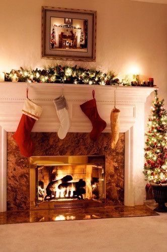 550 best Christmas FireplacesMantles images on Pinterest