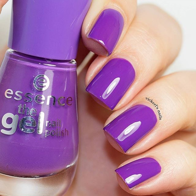 """purple love with our gel nail polish """"20 beautiful lies"""" presented by @vickerl…"""