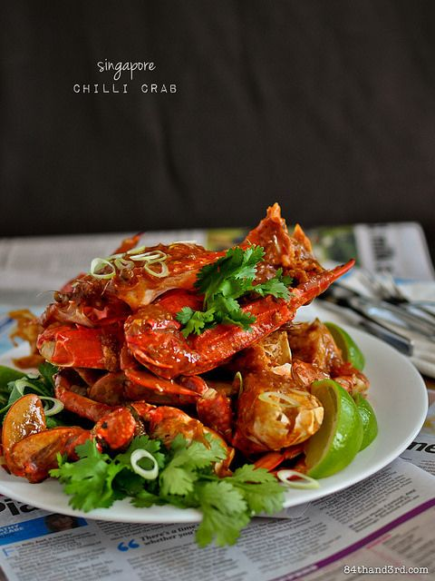 Singapore Chilli Crab...a national dish of Singapore.