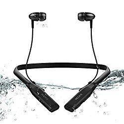 Bluetoothイヤホン Esonar スポーツイヤホン ネックバンド型 IPX5 防水防滴仕様 ブルートゥースイヤホン 高音質 ステレオサウンド 超軽量 カナル型 ワイヤレスヘッドフォン ( 有線と無線両用 ) 8時間連続使用 マイク搭載 iPhone&Android スマートフォン対応 おすすめ度*1 ASIN B073PVM25V ネックバンド型のワイヤレスイヤホン。ハウジングは小型で耳への収まりもよく、装着感は悪くない。遮音性はそこそこ。音漏れもそれほど目立たない。 aptXには対応しない。通信途絶・遅延は感じられず、通信性能は安定している。 【1】外観・インターフェース・付属品 付…