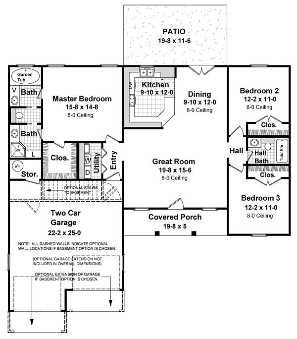 Love the master bath layout thats about it theres no for Retirement house plans