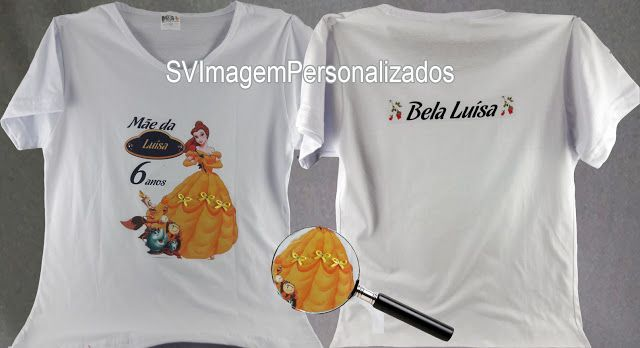 Camiseta A Bela e a Fera com aplique de laço e Strass