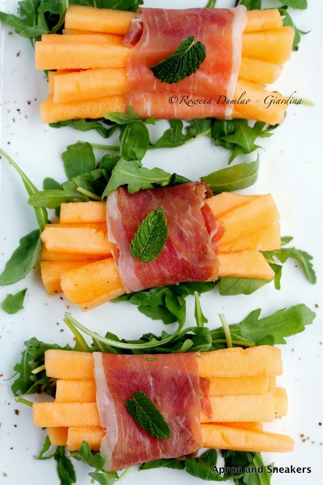 Traveling in Italy and Beyond: Prosciutto-Wrapped Melon Sticks With Rucola