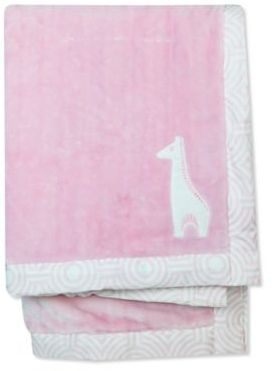 Jonathan Adler Crafted by Fisher Price Jonathan Adler® Crafted by Fisher-Price® Giraffe Plush Blanket in Pink