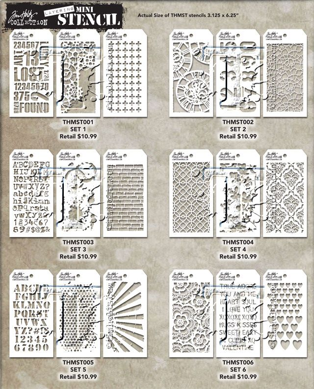 MINI STENCIL SETS welcome to day 3 of the CHA2016 sneak peeks.  today i'm excited to share my new releases with stampers anonymous.  i started out my crafting obsession with stamping and have always loved the possib...