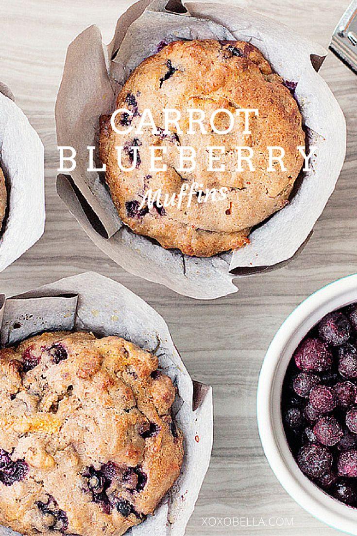 Carrot Blueberry Muffins xoxoBella.com
