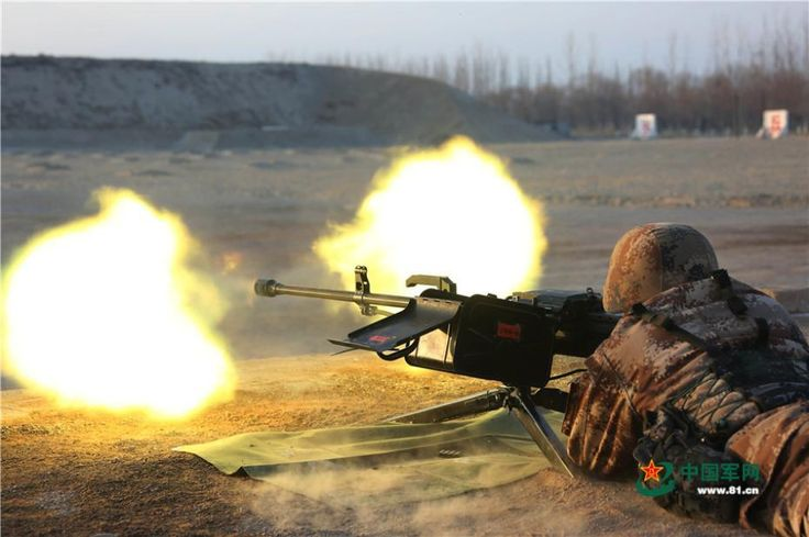 Soldiers conduct live-fire exercises using heavy machine guns