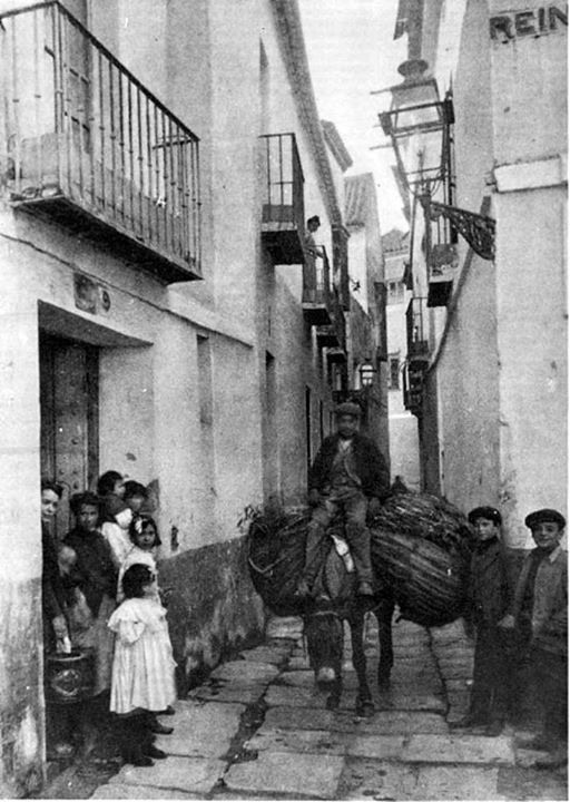 Calle Lope de Rueda, antes calle Barrabas hasta 1840-barrio de Santa Cruz. 1915