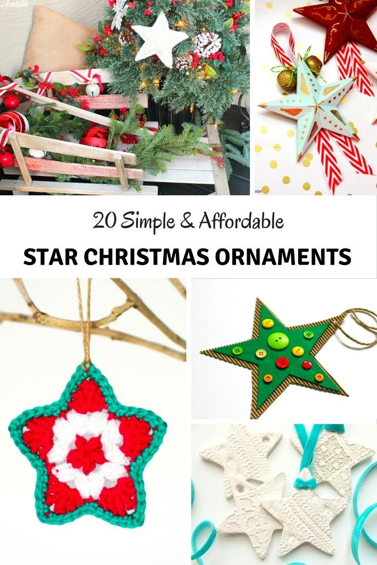 20 Simple Affordable DIY Star Christmas Ornaments