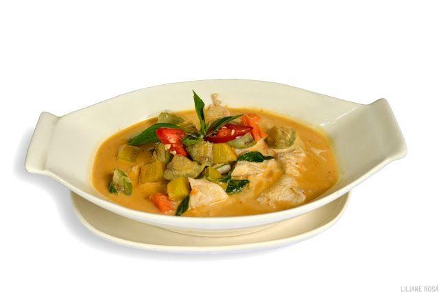 Curry vermelho com frango | Receitas da culinária tailandesa | Cozinha Thai