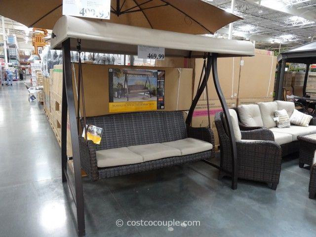 Agio International Fairview Woven Patio Swing Costco 3 Garden Pinterest Chang 39 E 3 Patio