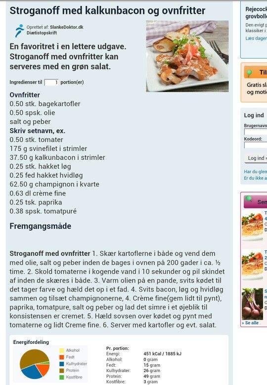 Stroganoff m. kalkunbacon & ovnfritter