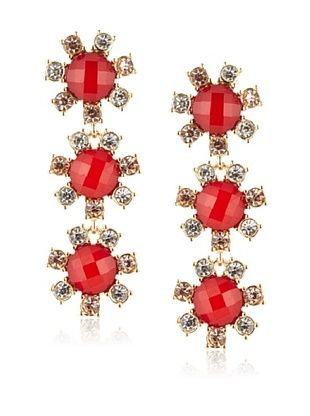 Leslie Danzis Linear Floral Dangle Earrings