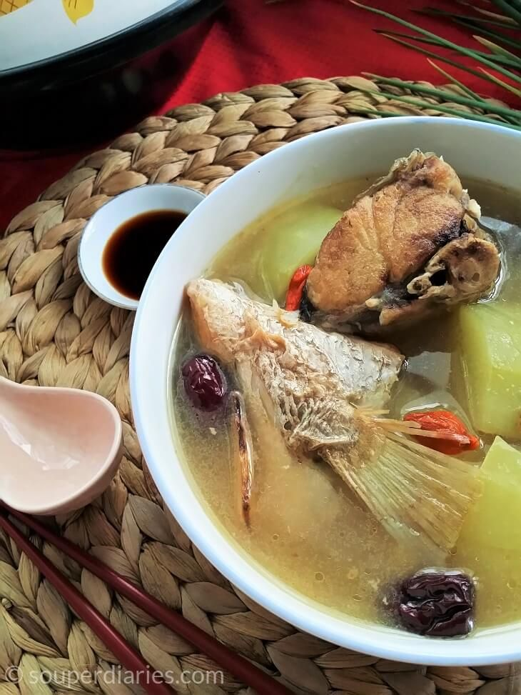 A traditional confinement soup that nourishes and warms the body and helps with lactation.