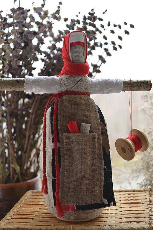 Купить Кукла Параскева-Пятница - ярко-красный, народная кукла, народная традиция, народная игрушка