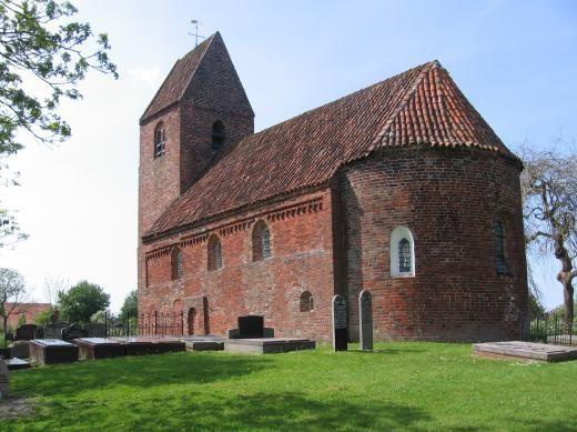 Een van de oudste romaanse kerkjes in het noorden, tweede helft 12e eeuw | Marsum | Groningen