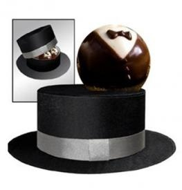 Image detail for -Tuxedo Brownie In Mini Top Hat Box - Gift Delivery - Send Chocolate ...