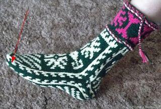 Вязание спицами: носки спицами или как вязать джурабы. JewelCity.ru