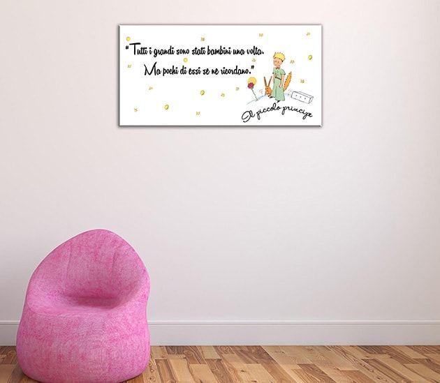 Di sara mancini su pinterest. Quadro Moderno Frase Il Piccolo Principe Adesivi Murali Decor Shabby Chic Murale
