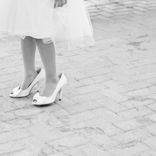 Little Princess #Wedding #White #BlackAndWhite #Photography #Girl #Princess #Queen #Little #Baby #Shoes #Damigella
