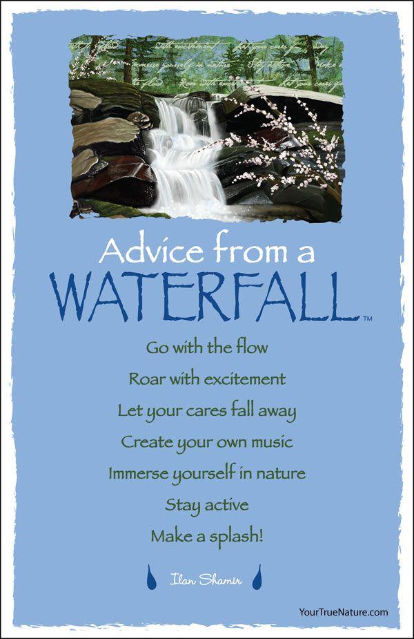 Advice From A Waterfall Earth Mountain Desert Sky