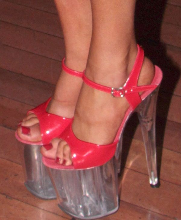 White Pole Dancing Shoes