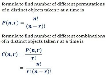 Different Permutation (nPr) & Combination (nCr) Calculator