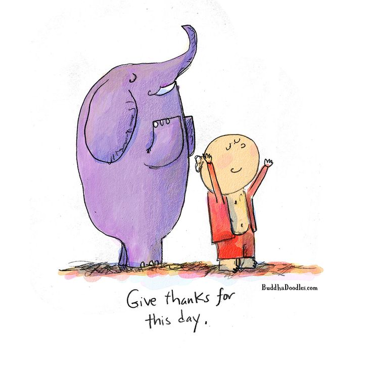 Today's Doodle: a prayer for any moment: Give thanks for this day.