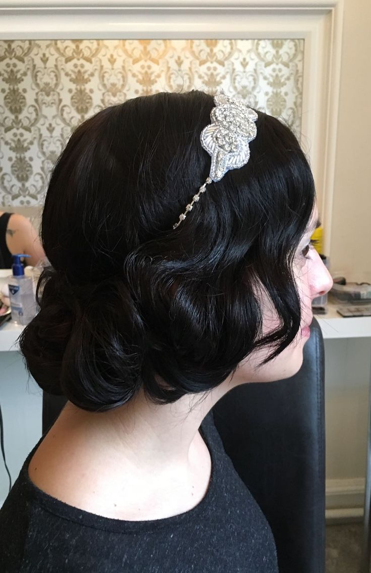 Bridesmaids hair 1920s faux bob. Hair by Able Mabel