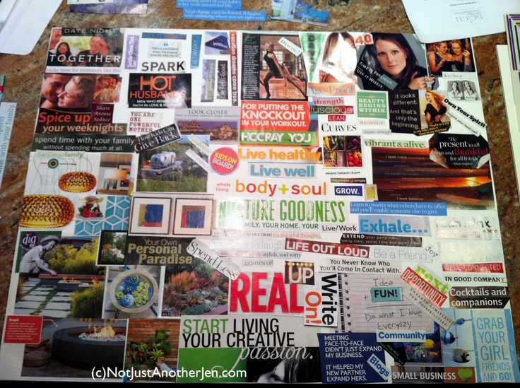how to create a vision board examples