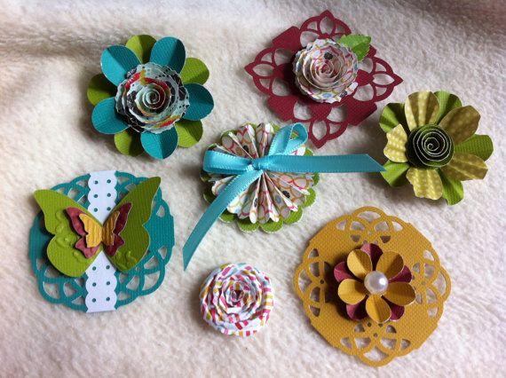 Homemade Embellishment Kit...7 Piece Set of by JudeAlyssaMarkus