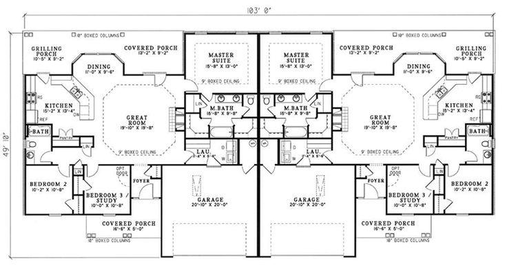 Best 25 condo floor plans ideas on pinterest apartment for Multi family condo plans