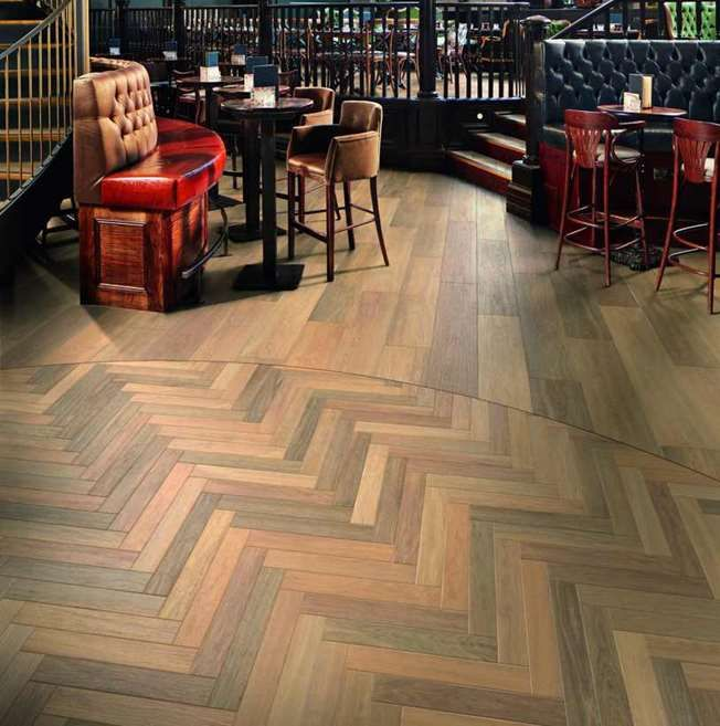 The Karndean Art Select Prairie Oak Herringbone Is