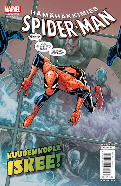 Hämähäkkimies - Spider-Man nro 3/2014. #sarjakuva #sarjakuvalehti #sarjis #egmont #marvel