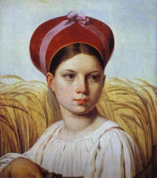 Венецианов Алексей Гаврилович (1780 - 1847) «Жница»