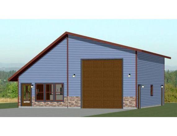 36x42 1 Rv Garage 1 Bedroom 1 Bath 1480 Sq Ft Pdf Etsy In 2020 Garage Floor Plans Rv Garage Garage House Plans