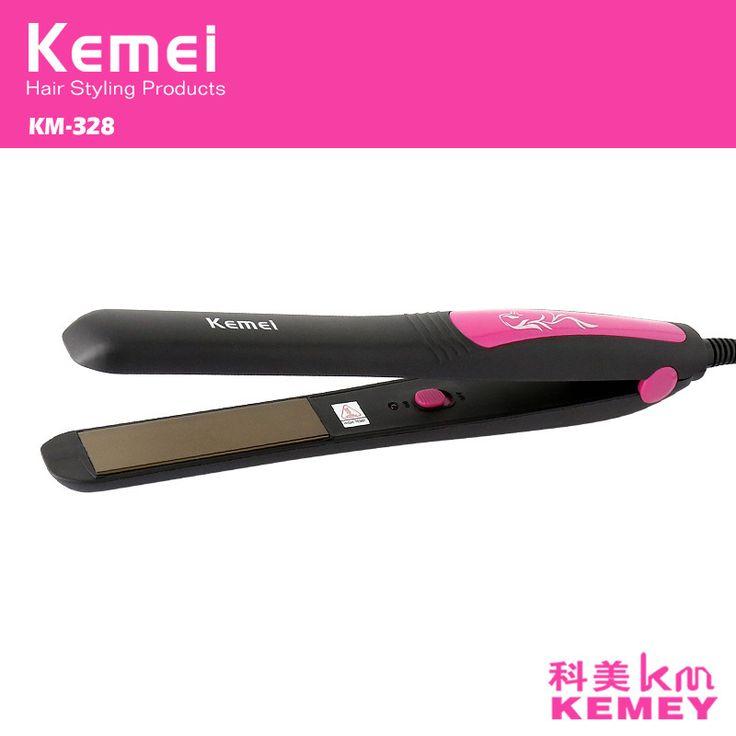 Z047 kemei alisador de cabelo alisamento de ferro pranchas de cabelo profissional curling ferros chapinha de cerâmica de estilo alishoppbrasil