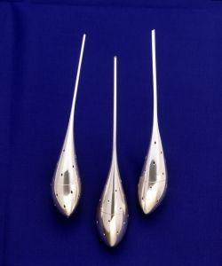 """Baehring Silver - """"Drops"""" - Tea infusers - Sterling silver - 1998 - Photo Lars Gundersen"""