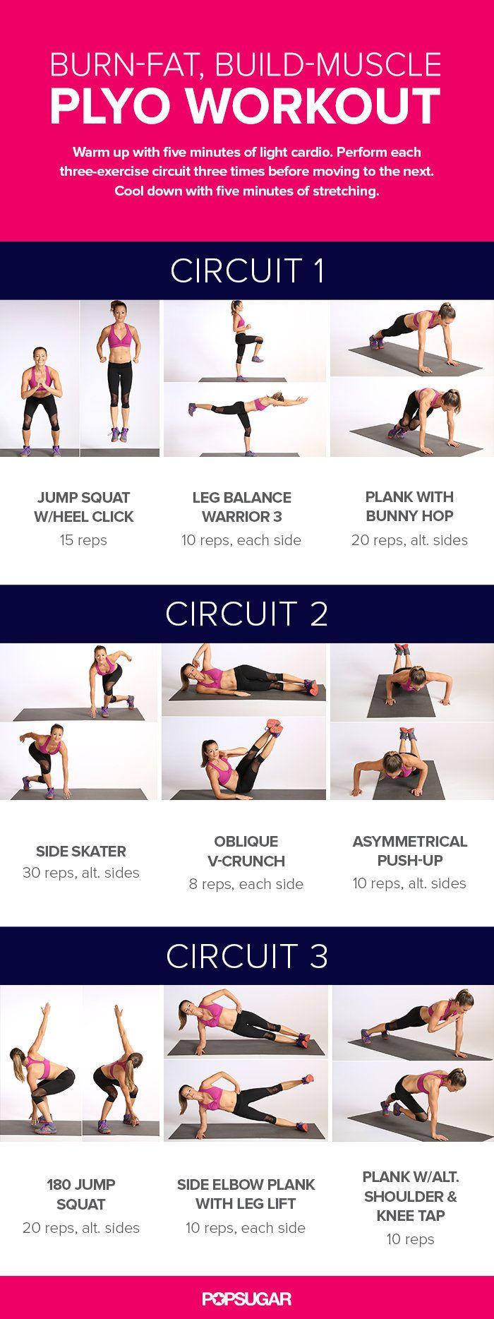 Circuit Workout With Plyometrics | POPSUGAR Fitness