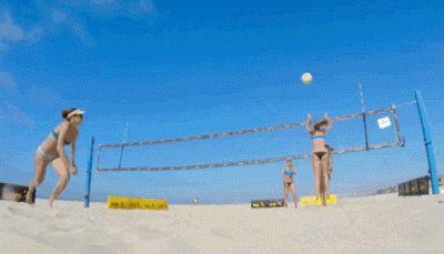 Olah Raga  (Sport): Voli Pantai di Negara yang tak Punya Pantai