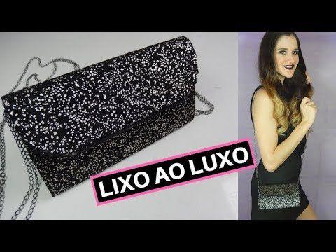 007d49f13 Como fazer bolsa de festa com caixa de leite. (clutche DIY) Por Pricity. -  YouTube